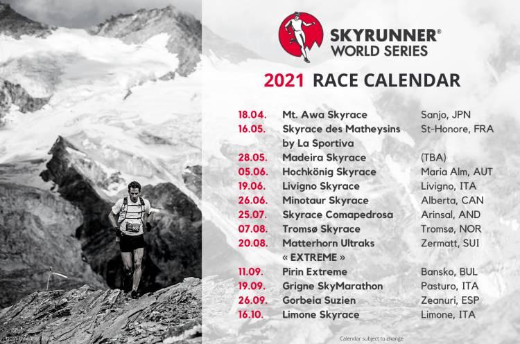 THE SKYRUNNER® WORLD SERIES ANNOUNCES 2021 RACE CALENDAR!
